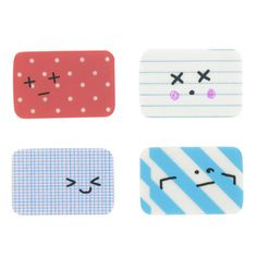 paperchase tearaways erasers