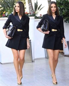 Wondering what to wear? Pageant Planet has you covered! Isn't this outfit on Olivia Culpo, Miss Universe 2012, absolutely perfect! #outfit #outfitoftheday #ootd #pageant #pageantoutfit #appearanceoutfit #cute #cuteoutfit #trendy #fashion #oliviaculpo Olivia Culpo, Shay Mitchell, Blazer Outfits, Fall Outfits, Cute Outfits, Fashion Killa, Leather Skirt, Casual, Fashion Shoes