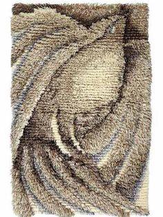 Rya Rug, Rug Hooking, Diy And Crafts, Weaving, Art Deco, Tapestry, Rugs, Finland, Carpets