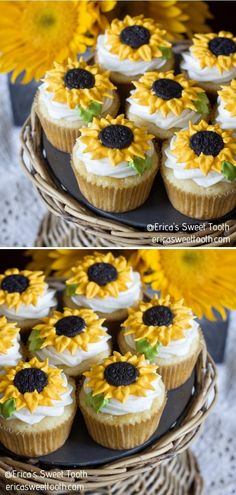 Lemon Sunflower Cupcakes  We bet you will get hungry after all the crafts sessions with your family! Making cupcakes is the best way to relax, trust us on this one. Erica's Sweet Tooth recipe is out of this world!  #sunflower #sunflowercraft #sunflowerdecor #summerdiy #crafttutorials Making Cupcakes, How To Make Cupcakes, Sunflower Cupcakes, Sunflower Crafts, Getting Hungry, Summer Diy, Craft Tutorials, Diy Crafts For Kids, Sweet Tooth