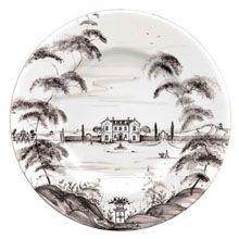 Juliska Country Estate Dinner Plate - Lux Bond & Green