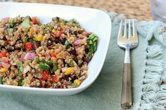 Quinoa, black bean and corn salad #recipe