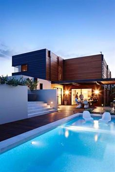 9 stunning modern dream house exterior design ideas 9 « A Virtual Zone Style At Home, Architecture Design, Installation Architecture, Chinese Architecture, Architecture Office, Futuristic Architecture, Pool Houses, Big Houses With Pools, House Goals