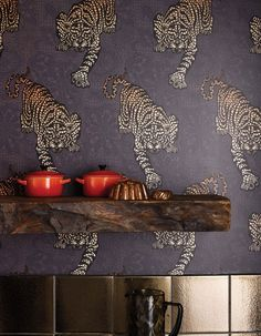 Fashion designer Matthew Williamson's new Tyger Tyger wallpaper for Osborne & Little.