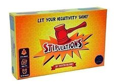 Stipulations - The Party Game that lets your Negativity Shine - $61.00 -Our favorite for the day, do u like it? #me #friends #art #life #party #friend #fun #wacky #swag #toys4ever #acasylumtoys #instalife #collectibletoys #tinkertoys #multicolor