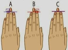 These 4 Diagrams Reveal What It Means If Your Ring Finger Is Longer Than Your Index Finger Yoga Nidra, Finger Length Meaning, Toe Length Meaning, Index Finger, Volleyball Tips, Palm Reading, Palmistry, Personality Types, Quizzes