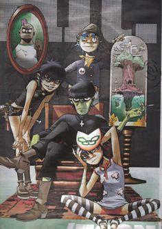 gorillaz family portrait