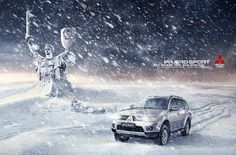 Pajero Sport: The Day After Tomorrow Brand Advertising, Creative Advertising, Pajero Sport, Outdoor Shelters, Winter Tyres, Ad Car, Mitsubishi Pajero, Survival Skills, Survival Kit