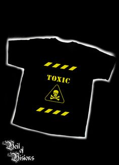 Black t-shirt with toxic design.     - Embroidered design will not fade or crack like print! £19