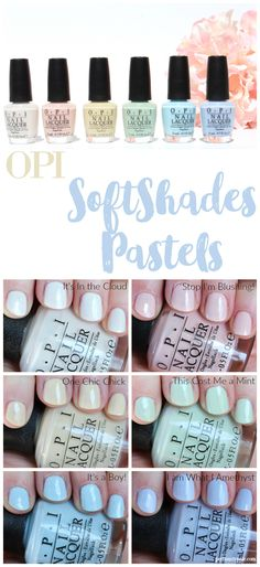 OPI SoftShades Pastels Collection Swatches and Review