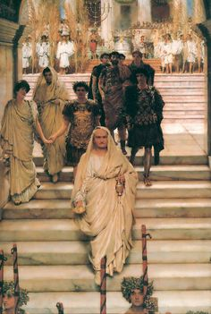 Sir Lawrence Alma-Tadema (Sir Lawrence Alma Tadema) The Triumph of Titus (Rome)