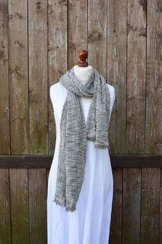94033fc2b0a46 Linen scarf, linen cotton scarf, cotton scarf, spring summer scarf, cotton  linen scarf, olive green scarf, melange, mens scarf