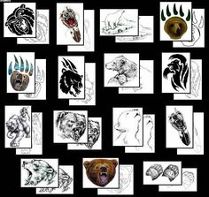 More Bear Tattoo Design
