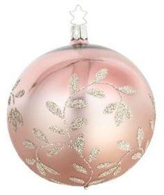 Inge's Christmas Decor Glass Silvertone Decoration