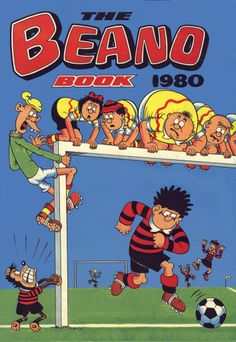 Football is a a recurring theme for The Beano. The Beano book from 1980 is a great example of this.