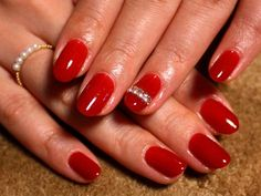 Red nail art for 2012 AW