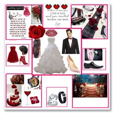 """Red wedding"" by lustlovelina ❤ liked on Polyvore featuring Retrò, Christian Louboutin, Chicwish, Dolce&Gabbana, GUESS, Reception, Bling Jewelry, Smashbox, LSA International and Cultural Intrigue"