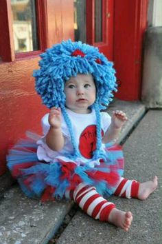 Adorable Halloween costume #thing1 #thing2