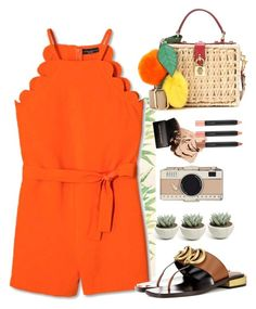 """""""summer elegang look"""" by rousou ❤ liked on Polyvore featuring Cole & Son, Dolce&Gabbana, Gucci, MAC Cosmetics and Kate Spade"""