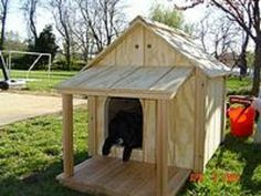 Insulated dog house plans - no shingling or siding involved! Dog Training Methods, Basic Dog Training, Dog Training Techniques, Training Dogs, Dog House With Porch, Build A Dog House, Large Dog House Plans, Wooden Dog House, Insulated Dog House