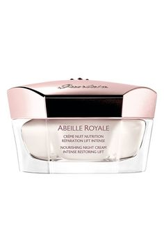 Free shipping and returns on Guerlain 'Abeille Royale - Intense Restoring Lift' Nourishing Night Cream at Nordstrom.com. Enhanced with Guerlain's exclusive Royal Jelly, an exceptional night cream redefines the contours of the face while repairing and regenerating skin at night.<br><br>Abeille Royale Intense Restoring Lift features ultra-concentrated Pure Royale Concentrate with Guerlain exclusive Royale Jelly and is ideal for lifting and firming visible signs of aging.