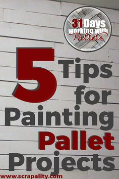 Pallet Designs 5 Tips for Painting Pallet Projects Pallet Painting, Pallet Art, Pallet Ideas, Pallet Wood, Outdoor Pallet, Garden Pallet, Wood Ideas, Decor Ideas, Craft Ideas