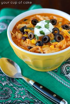Crock Pot Chicken Enchilada Soup, there's a reason this have been pinned SO many times!