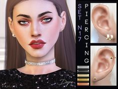 Piercings, inspired by BTS' Jimin while the DOPE era. 5 colors, all genders. Found in TSR Category 'Sims 4 Female Earrings'
