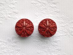 "Rust Color Star Button Design Plugs Gauges Size: 3/4"" (20mm) by PorcupineSpines"