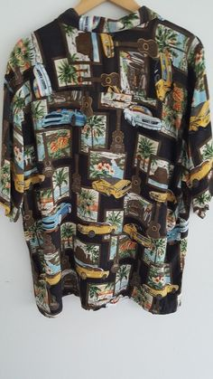 Islander Tropical Hawaiian Shirt XL Surfboards Muscle Cars Guitars Palms | Clothing, Shoes & Accessories, Men's Clothing, Casual Shirts | eBay!