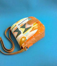Sling bag Camera bag Travel purse Bagstock Gift for her leather bag women purse Saddle bag