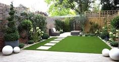 Image result for small garden with artificial grass