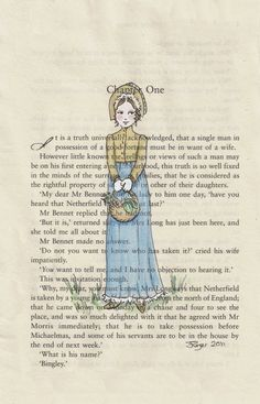 Pride and Prejudice Chapter One Print