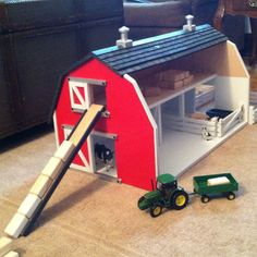 Children's toy wooden barn by StockwellCreek on Etsy