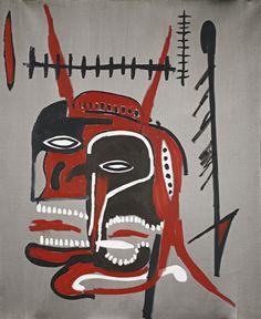 Jean-Michel Basquiat (American, 1960-1988), Untitled (Devil's Head), 1987. Acrylic on canvas, 48 x 39 ½ in.