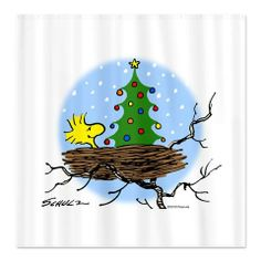 Woodstock Christmas Shower Curtain - Shower Curtains - Home Accessories - Home Decor - Products