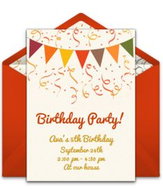 Don't miss this collection of FREE adult birthday party invitations. We love fall-inspired design for a 30th birthday party. Easily personalize and send to friends via email.