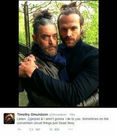 Timothy Omundson twitter || Jared Padalecki #Supernatural #ManBun