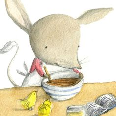 Bilby Cooking by Jeddas on Etsy Australian Animals, Illustration Art, Book Illustrations, Teddy Bear, Handmade Gifts, Art Prints, Cooking, Etsy, Inspiration
