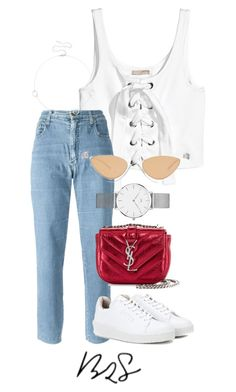 """#948"" by blendingtwostyles ❤ liked on Polyvore featuring Moschino, Sole Society, Eytys, Yves Saint Laurent, Daniel Wellington and Le Specs"