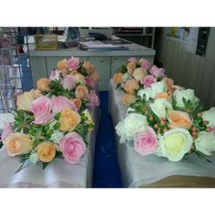 Wedding flowers ready for delivery