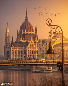"""Shiny morning at house of Parliament ~ Budapest, Hungary. Photo by // Hi Friends 🔔 Shop for """"Good Vibes Only ✴️✌️"""" clothing & apparel . Paris Landmarks, Budapest Things To Do In, Hungary Travel, Romantic Destinations, Travel Destinations, Holiday Destinations, Voyage Europe, Belle Villa, Photos Voyages"""