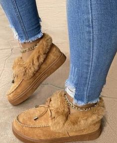 Fur Loafers, Warm Snow Boots, Winter Mode, Fall Winter, Winter Snow, Style Casual, Casual Shoes, Women's Casual, White Casual