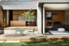 Indoor outdoor connected living at Prahran House by Photography Styling Landscape… Patio Design, Exterior Design, House Design, Exterior Colors, Terrace Floor, Wordpress, Contemporary Kitchen Design, Design Kitchen, Dream House Exterior