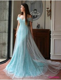 New Arrival Prom Dress,Modest Prom Dress,Sweetheart Light Blue Prom Dresses,Lace Prom Dresses,Tulle Evening Dresses,Off the Shoulder Prom Dresses,Lace Wedding Dress PD20181964
