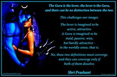 The Guru is the lover, the lover is the Guru, and there can be no distinction between the two. This challenges our images. ~ Shri Prashant  #ShriPrashant #Advait #Guru #Love #attraction #imagination #world Read at:- prashantadvait.com Watch at:-www.youtube.com/c/ShriPrashant Website:-www.advait.org.in Facebook:-www.facebook.com/prashant.advait LinkedIn:-www.linkedin.com/in/prashantadvait Twitter:-https://twitter.com/Prashant_Advait