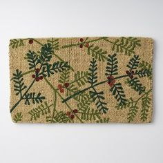 Coir Door Mat - Pine - The Company Store Southern Christmas, Monogram Shop, Dorm Essentials, The Company Store, Beds For Sale, Comfy Bed, Make Your Bed, Cotton Bedding, Cool Patterns