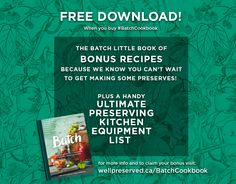 Have you Pre-Ordered #Batchcookbook (Indigo, Amazon, Barnes & Noble).  If you have, come on over and get your amazing BONUS including the Ultimate Preserving Kitchen Equipment List. Kitchen Equipment List, Watch This Space, Batch Cooking, Knowing You, Indigo, You Got This, How To Get, Amazon, Books