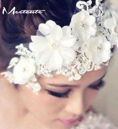 Cheap tiaras hair accessories, Buy Quality bridal hairpins directly from China floral veil Suppliers: Meetcute Lace Costume Pearls Bridal Hairpine Floral Veils Headwear Tiara Hair Accessories For Women Wedding Hair Accessories Flower Headdress, Wedding Headdress, Floral Headpiece, Headband Veil, Wedding Headband, Hair Tiara, Bridal Hair Flowers, Flower Hair, Wedding Flowers