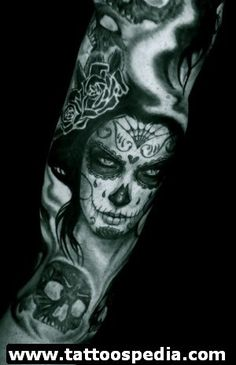 day of the dead tattoos 17